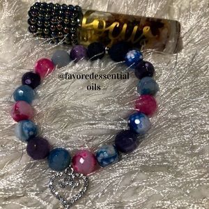 Jewelry - Focus Blend with Cotton Candy Agate Lava Bracelet